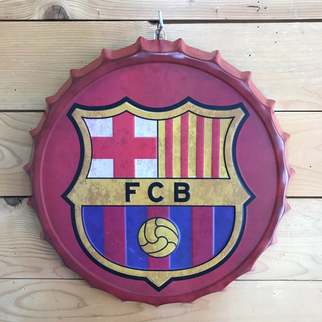 Plate soccer club barcelona